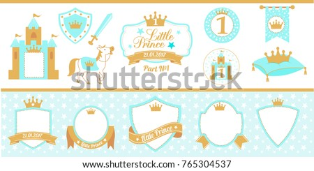 blue and gold prince party