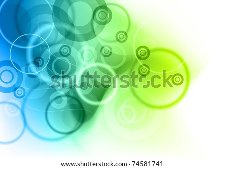 blue and green abstract background - stock vector