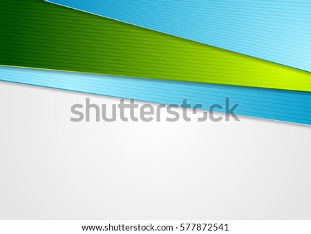 Blue and green abstract corporate background. Vector illustration