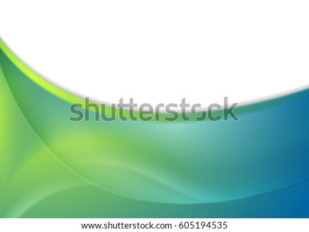 blue and green abstract smooth