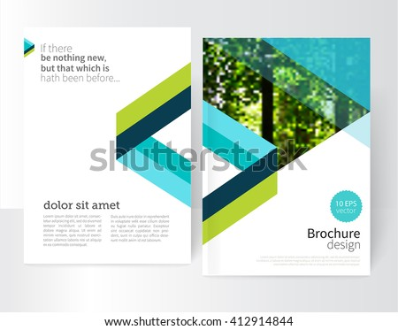 blue and green brochure