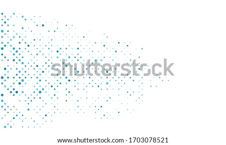 blue and green dots over white background. circles halftone design. template pattern for web pages.