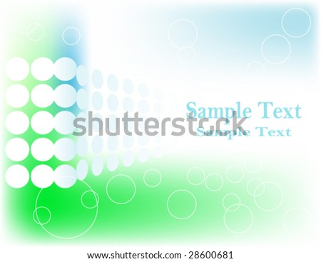 Blue and Green Flowing Vector Background Easily Editable With Space For Your Text.
