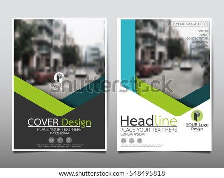 Blue and green flyer cover business brochure vector design, Leaflet advertising abstract background, Modern poster magazine layout template, Annual report for presentation.