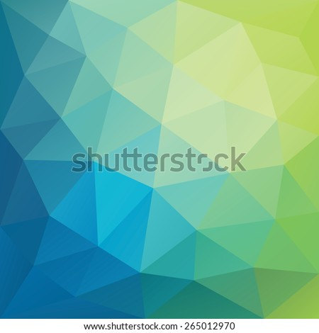 blue and green low polygon