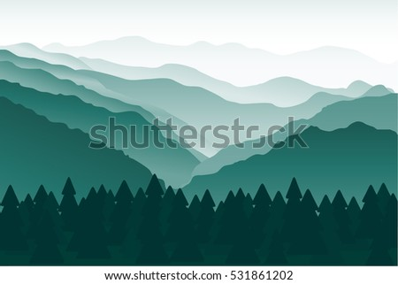 blue and green mountains in the