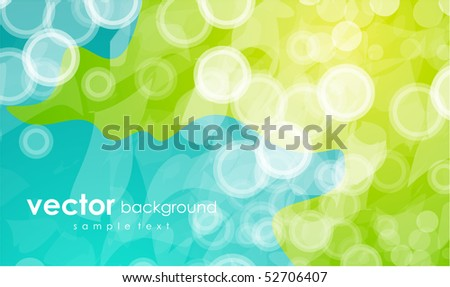 Blue and green. Vector abstract background