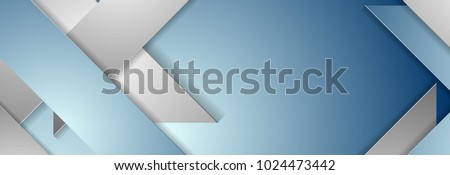 blue and grey geometric