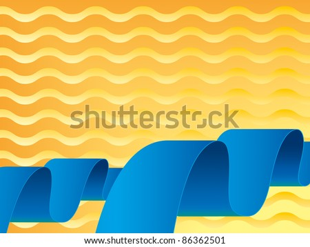 Blue and orange waves