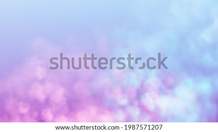 blue and pink smoke cloud on