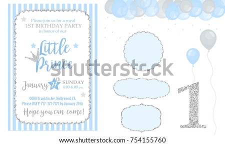 Happy First Birthday Card Download Free Vector Art Stock Graphics