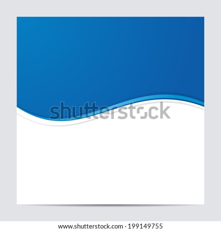 Blue and White Blank Abstract Background. Vector illustration