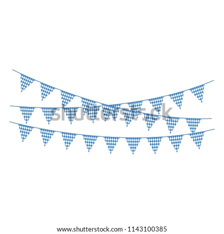 Blue and White Bunting Banners - Banner or bunting with blue and white colors of Bavarian flag