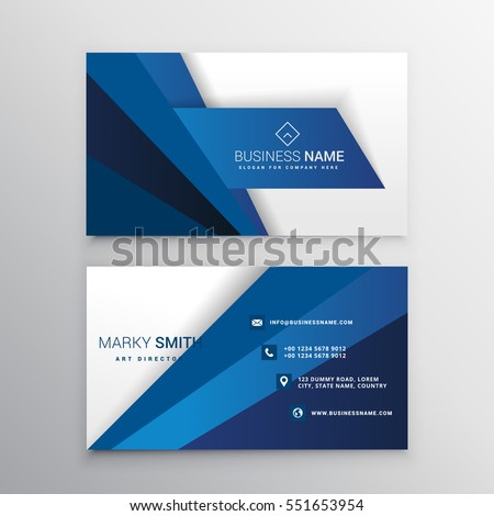 blue and white corporate