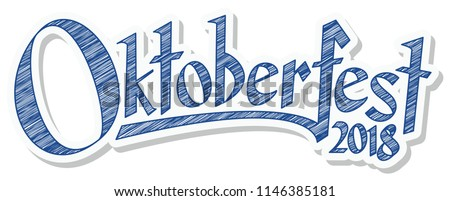 blue and white header with scribble pattern and text Oktoberfest 2018