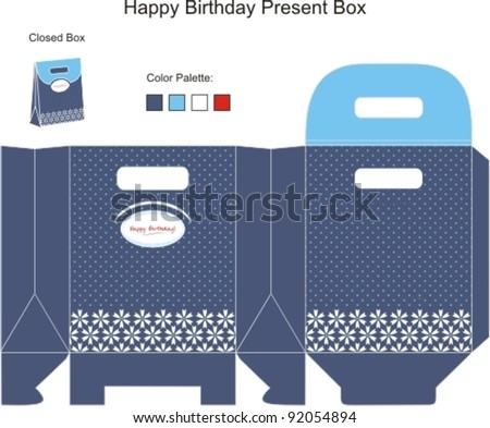 Blue and White Present Box