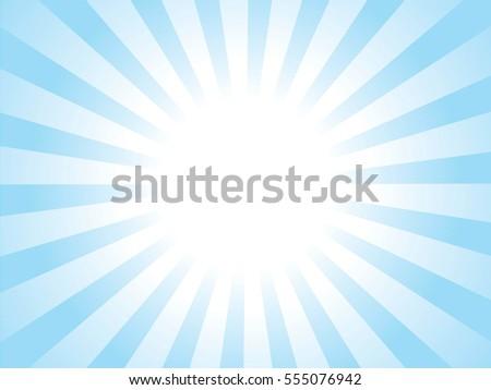 blue and white sunburst pattern