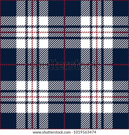 Blue and White Tartan Plaid Scottish Pattern