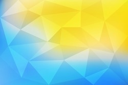 Blue and yellow gradient abstract mosaic, geometric low poly style, vector illustration design