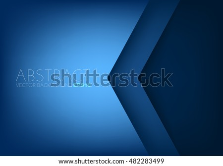 blue angle arrow overlap vector