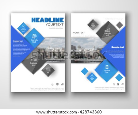 Simple Business Brochure Template Design Download Free Vector Art