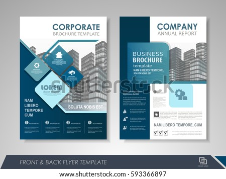 Business Vector Flyer Design Layout Template In A Size Download - Business brochures templates