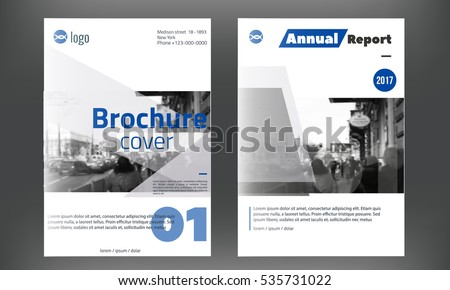 Professional Blue Business Flyer Brochure Design Template - Professional brochure design templates