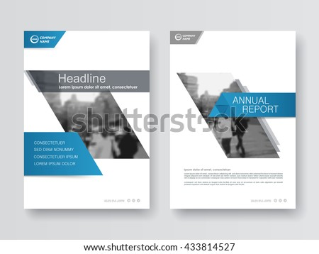 Blue annual report flyer Brochure leaflet, the presentation cover, magazine advertising. cover with an abstract background. vector template layout of A4 format #433814527