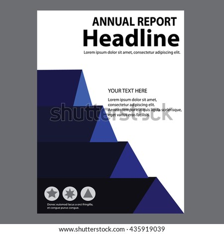 Blue Annual Report Title Page Sample Cover Page Design Templates ... Blue Annual Report title page sample Cover Page Design Templates in A4 vector