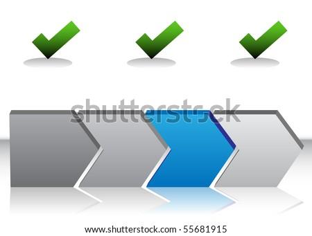 Blue Arrow Chart