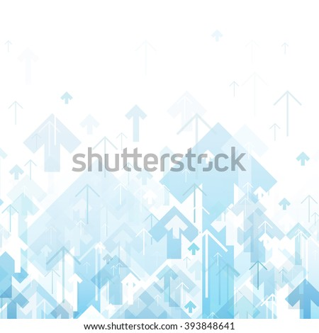 Blue Arrows Up Abstract background