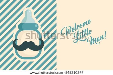 blue baby shower invite