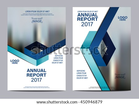 Blue background for Brochure Flyer cover page annual report design Layout vector template