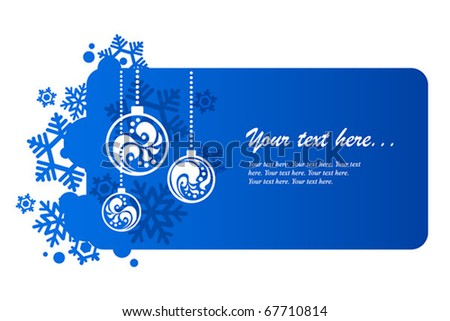Blue background for new year and for Christmas