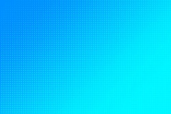 Blue background. Gradient with halftones. Dot pattern. Retro wallpaper. Graphic texture. Vector illustration.