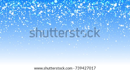 Blue background snowfall - stock vector #739427017