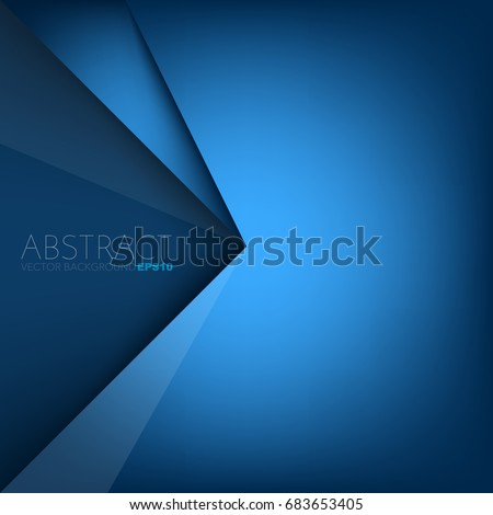 blue background triangle and