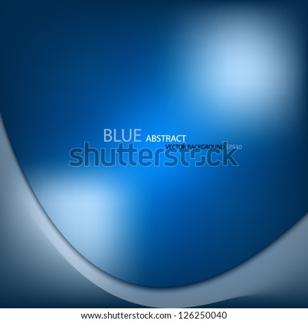 blue background vector abstract curve texture template for design eps10