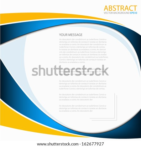 stock-vector-blue-background-vector-blue-and-orange-line-curve-for-text-and-message-design