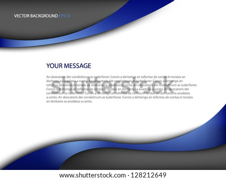 blue background vector eps10 modern curve and space for message and text web design