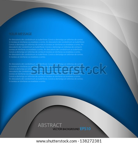 Blue background vector illustration metal texture pattern for text and message board design dimension overlap eps10 infographic