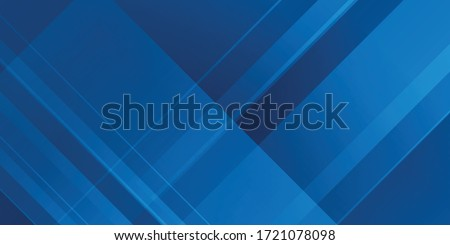 Blue background with abstract box rectangle geometric shapes modern element for banner, presentation design and flyer