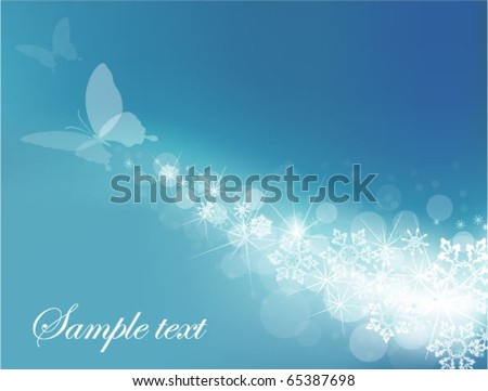 blue background with