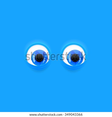 blue background with cartoon