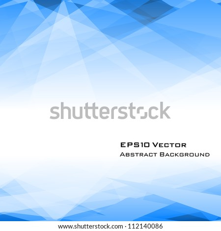 Blue background with copyspace. EPS 10 vector illustration. Used opacity mask of background