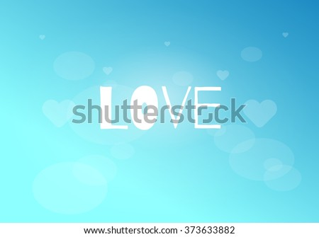 blue background with cute text