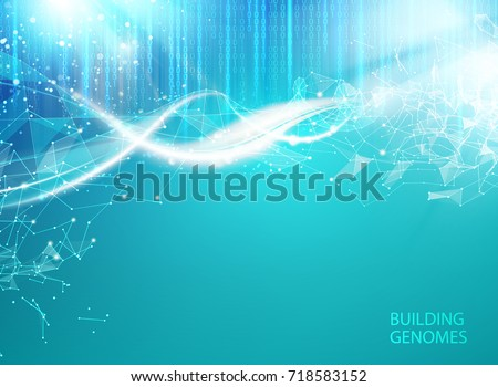 blue background with dna blue