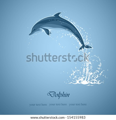 blue background with jumping