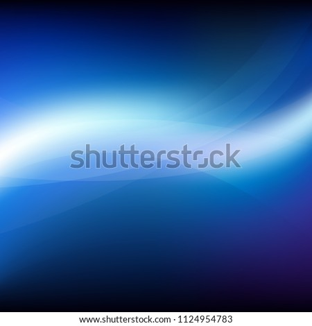 Blue Background With Line With Gradient Mesh, Vector Illustration