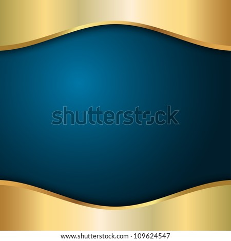 blue background with metal and